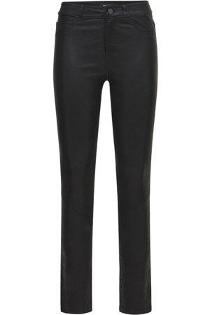 PAIGE Hoxton Skinny Leather Pants