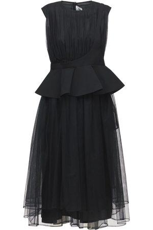 NOIR KEI NINOMIYA Nylon Grosgrain Tulle One Shoulder Dress