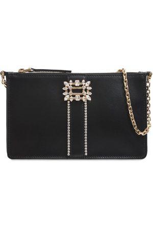 Roger Vivier Miss Vivier Leather Shoulder Bag