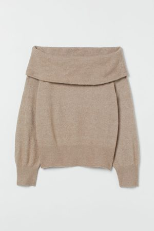 H & M Women Strapless Tops - Off-the-shoulder Sweater