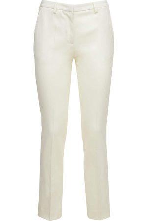 LARDINI Women Stretch Pants - Tino Stretch Wool Straight Pants