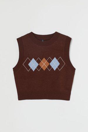H & M Women Tank Tops - Crop Sweater Vest