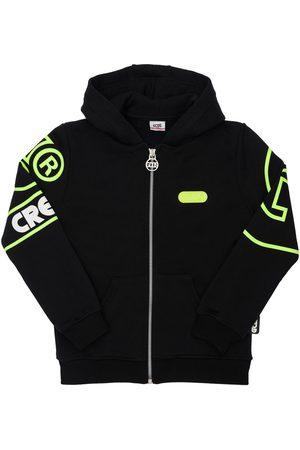 GCDS Boys Hoodies - Printed Logo Cotton Sweatshirt Hoodie