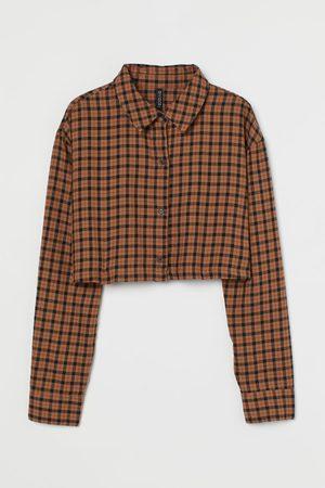 H & M Cotton Crop Shirt