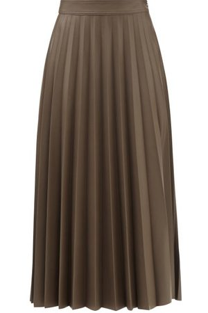 Stand Studio Haven Pleated Faux-leather Maxi Skirt - Womens - Light