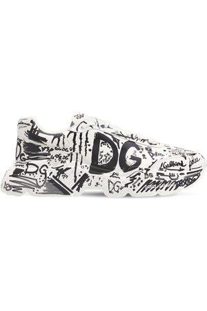 DOLCE & GABBANA 50mm Graffiti Leather Running Sneakers