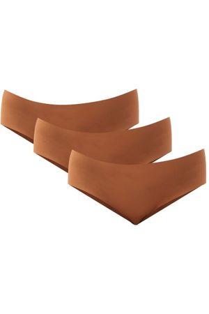 Nubian Skin Pack Of Three Naked Caramel Jersey Briefs - Womens - Light