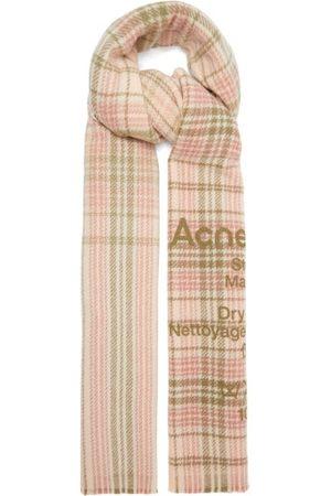 Acne Studios Women Scarves - Cassiar Tartan-wool Scarf - Womens - Multi
