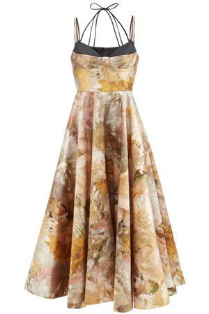 Erdem Rea Floral-print Mikado Midi Dress - Womens