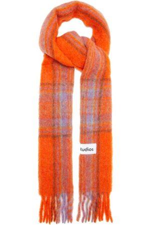 Acne Studios Cassiar Tartan Wool Scarf - Womens - Multi