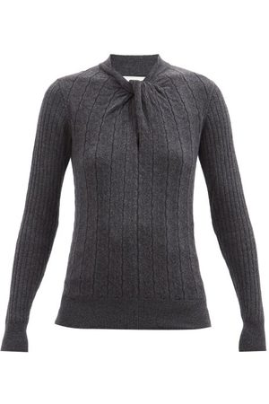 Erdem Rae Twist-neck Sweater - Womens - Grey