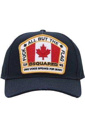 Dsquared2 Flag Patch Cotton Canvas Baseball Hat