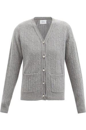 Erdem Women Cardigans - Elizabeth Crystal Merino Wool-blend Cardigan - Womens - Grey