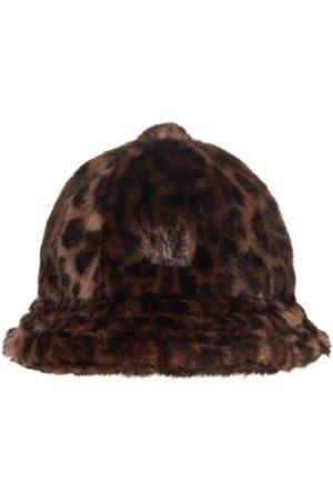Needles Men Hats - Faux fur leopard bermuda hat M
