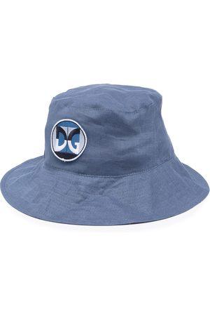 Dolce & Gabbana Men Hats - Logo-patch linen bucket hat