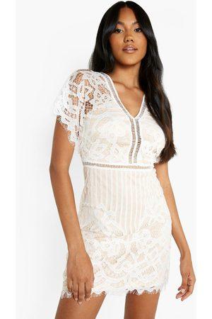 Boohoo Womens Boutique All Over Lace Bodycon Mini Dress - - 2