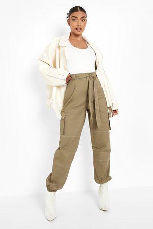 Boohoo Women Cargo Pants - Womens Contrast Stitch Cargo Pants - - 2