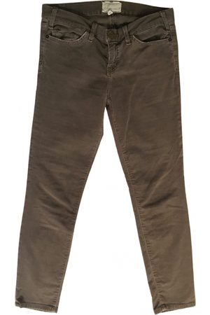 Current Elliott Velvet slim pants