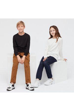 UNIQLO Kid's HEATTECH Extra Warm Cotton Crew Neck Long-Sleeve T-Shirt, , 3-4Y