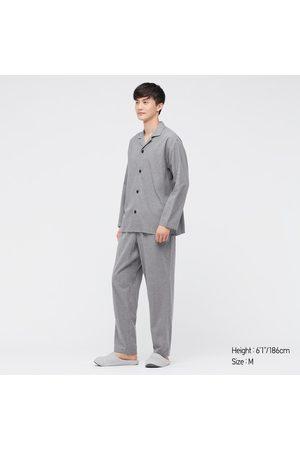 UNIQLO Men's Flannel Long-Sleeve Pajamas, , S