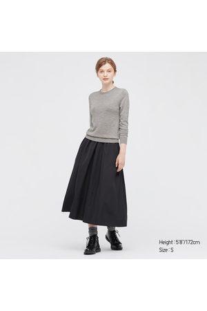 UNIQLO Women's Extra Fine Merino Crew Neck Sweater, , XS