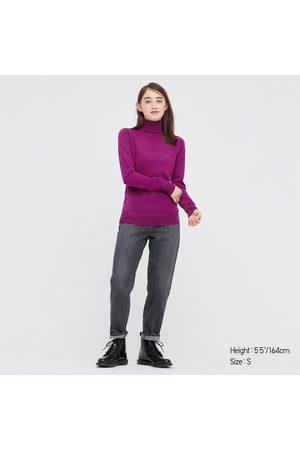 UNIQLO Women's Extra Fine Merino Turtleneck Sweater, , XXS