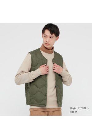 UNIQLO Men's Ultra Light Down Puffer Wave Quilt Compact Vest, , XXS