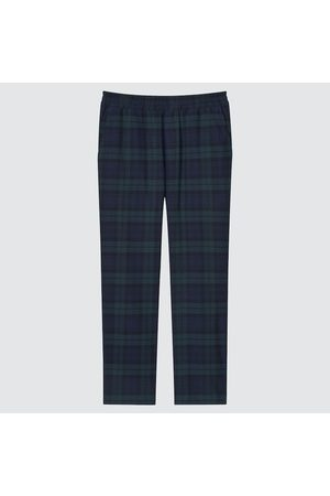 UNIQLO Men Stretch Pants - Men's Stretch Flannel Easy Ankle Pants, Green, S