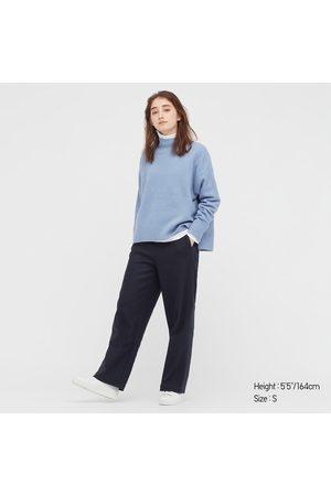 UNIQLO Women Straight Leg Pants - Women's Brushed Jersey Straight Pants, , XXS
