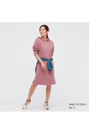UNIQLO Women Long sleeves - Women's Sweat Hoodie Long-Sleeve Dress, , XS