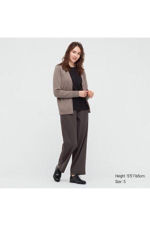 UNIQLO Women's Brushed Jersey Straight Pants, , XXS
