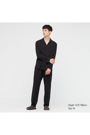 UNIQLO Men Long sleeves - Men's Airism Cotton Long-Sleeve Pajamas, , S