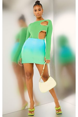 PrettyLittleThing Ombre Faux Leather Mini Skirt
