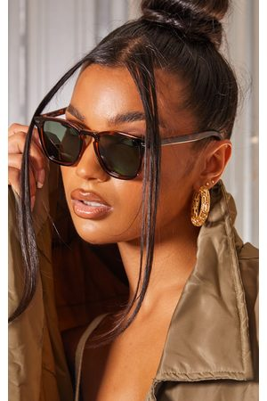 PrettyLittleThing AIRE Polarized Tort Magnetic Round Frame Sunglasses