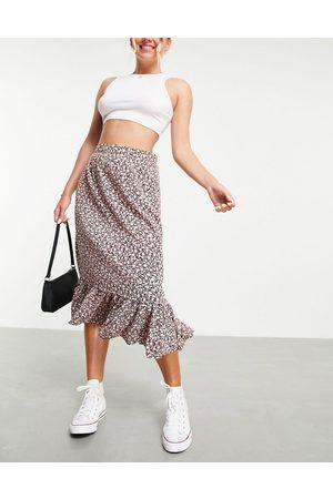 JDY Midi skirt in floral print-Multi