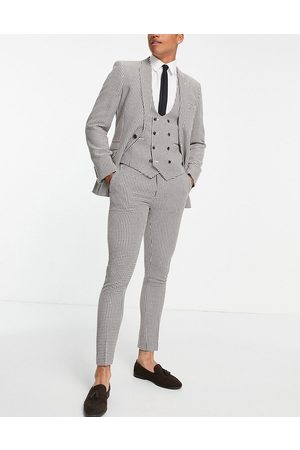 ASOS DESIGN Super skinny suit pants in dogstooth