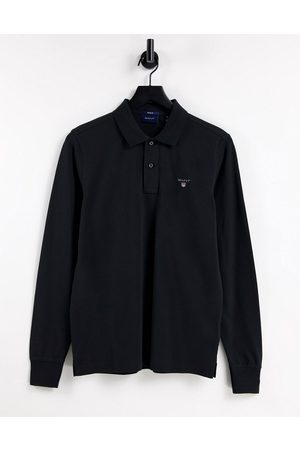 Gant Original logo long sleeve pique polo in