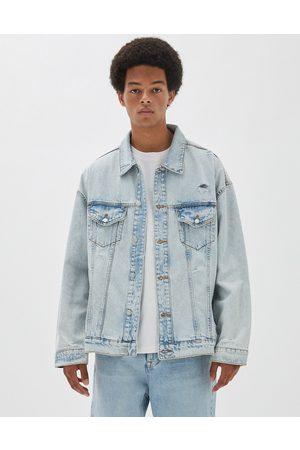 Pull & Bear Denim jacket in blue acid wash
