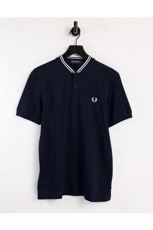 Fred Perry Bomber neck pique polo in navy
