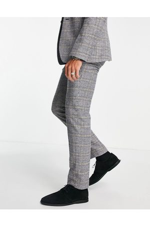 ASOS Slim wool mix suit pants in prince of wales check