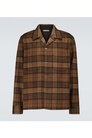 OUR LEGACY Heusen checked wool-blend shirt