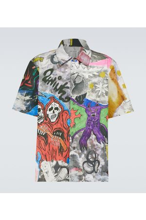 OUR LEGACY Box printed short-sleeved shirt