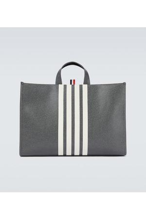 Thom Browne 4-Bar leather tote bag