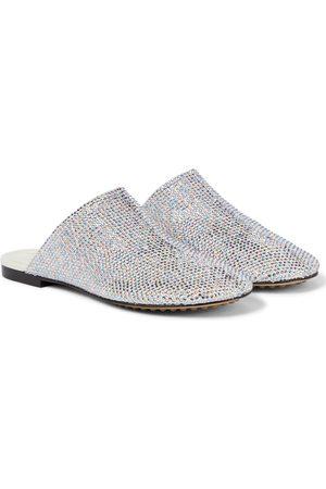 Bottega Veneta Sparkle Dot Sock embellished suede slippers