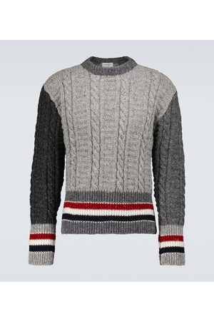 Thom Browne Cable-knit wool and mohair sweater