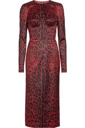 Dolce & Gabbana Leopard-print midi dress