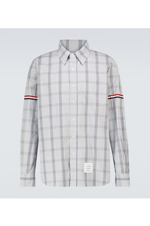 Thom Browne Checked long-sleeved cotton shirt