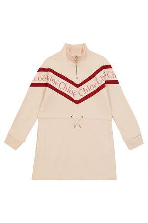 Chloé Logo cotton sweatshirt dress