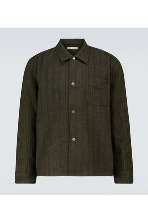 OUR LEGACY Box striped long-sleeved shirt