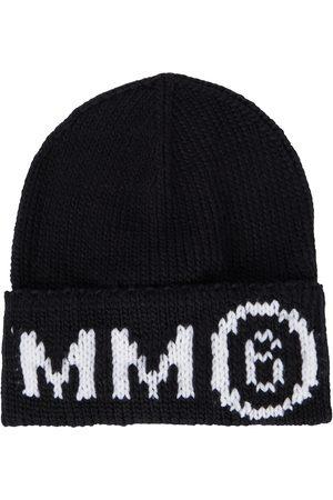 MM6 Maison Margiela Kids Intarsia wool-blend beanie